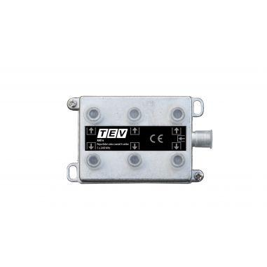 REPARTIDOR CABO COAXIAL 6 SAIDAS  5 A 2400 Mhz